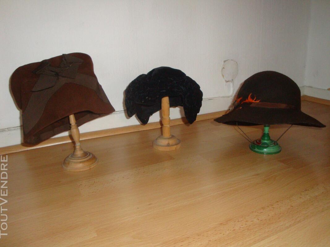 """Lot de chapeaux """"vintage"""" plus cols fourrure 149321524"""