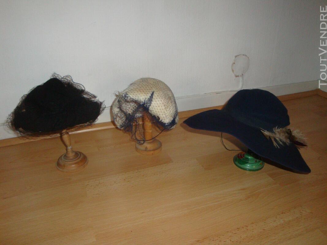 """Lot de chapeaux """"vintage"""" plus cols fourrure 149321530"""