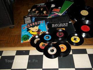 Lot de disques Vinyles 33T et 45T