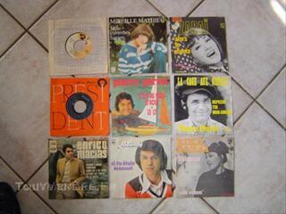Lot de disques vinyles 45 tours