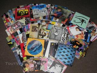 Lot de disques vinyls 33 T et 45 T