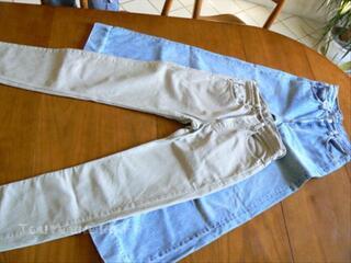 Lot de jeans, chemises et veste en jean