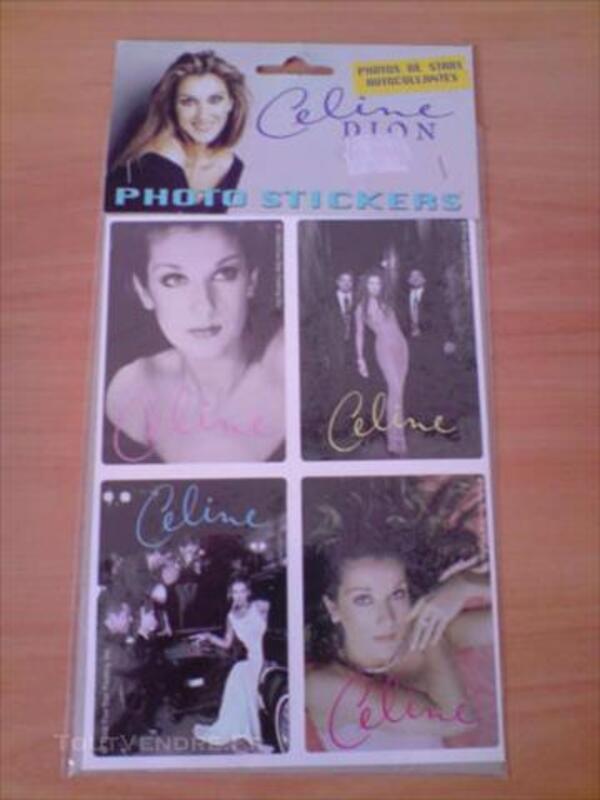 Lot de stickers Céline Dion 86004545