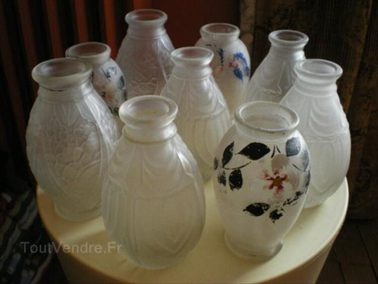 LOT DE VASES SOLIFLORES ART DECO ANCIENS SIGNES JOMA 55919339