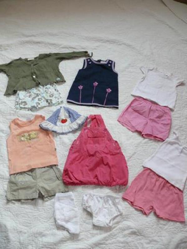 Lot de vêtements été en 1 an 96254738