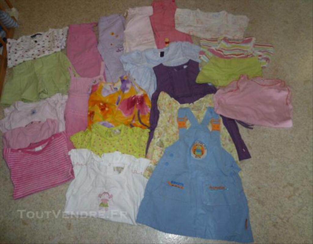 Lot de vêtements fille, printemps-été, taille 18 mois 73996186