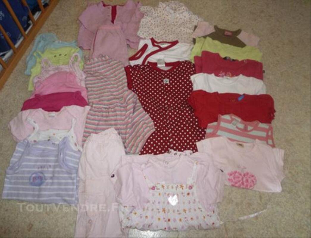 Lot de vêtements fille, printemps-été, taille 18 mois 73996187