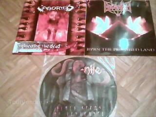 Lot death metal aborted lp  rebealliun lp  nile picture