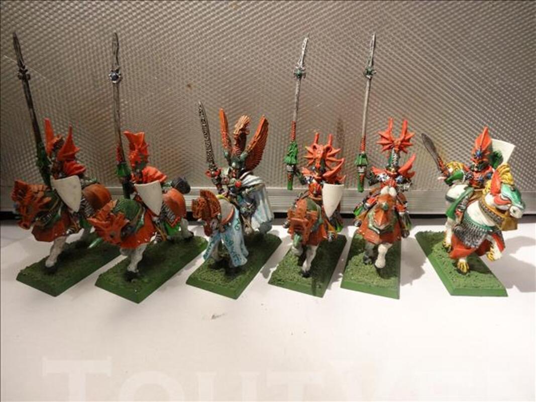 Lot elfes chevaliers warhammer, 83152630