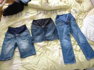 Lot grossesse (jupe + short+ pantacourt) taille 42