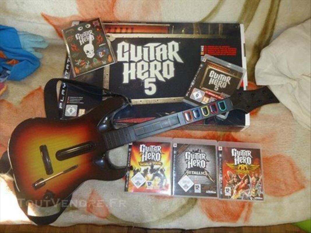 Lot guitare hero pour ps3 84564797