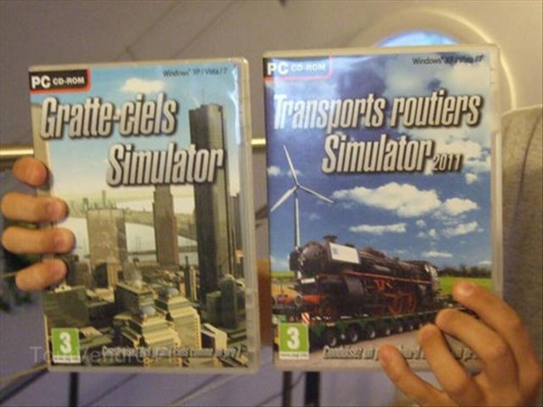 Lot jeu PC gratte ciel + transports routiers simulator 88107196