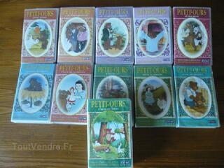 Lot K7 VHS PETIT OURS BRUN, 1€ l'une ou 10 € le lot