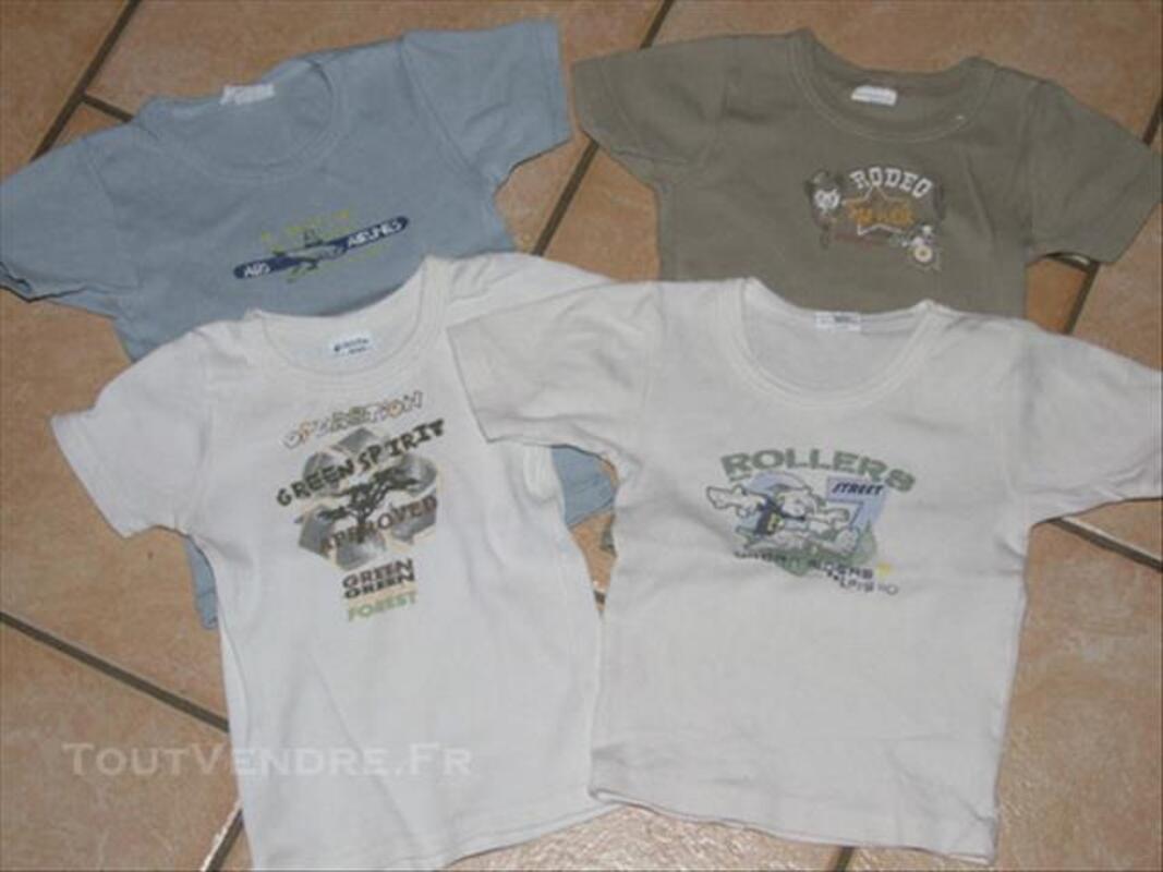Lot maillots de corps MC garçon 2 ans 85955196