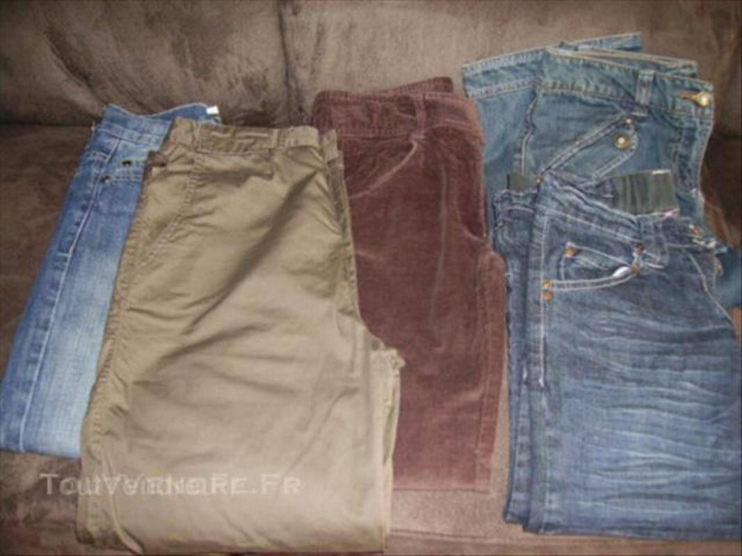 Lot pantalons Fille, 12 ans 44969406