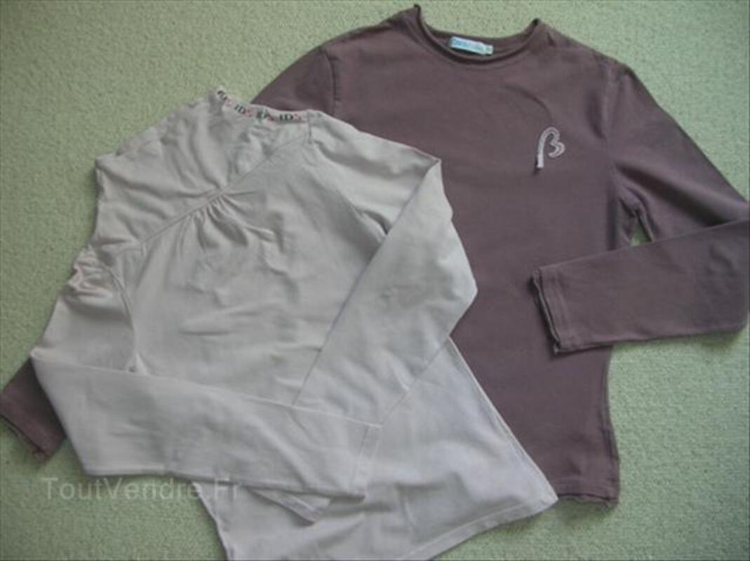 Lot rose : Tee shirt BONOBO + Tee shirt OKAIDI 14 ans T 56282503