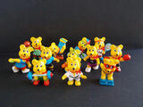 Lot série complète 12 Haribo Ours Sportifs Bear Teddy Allema