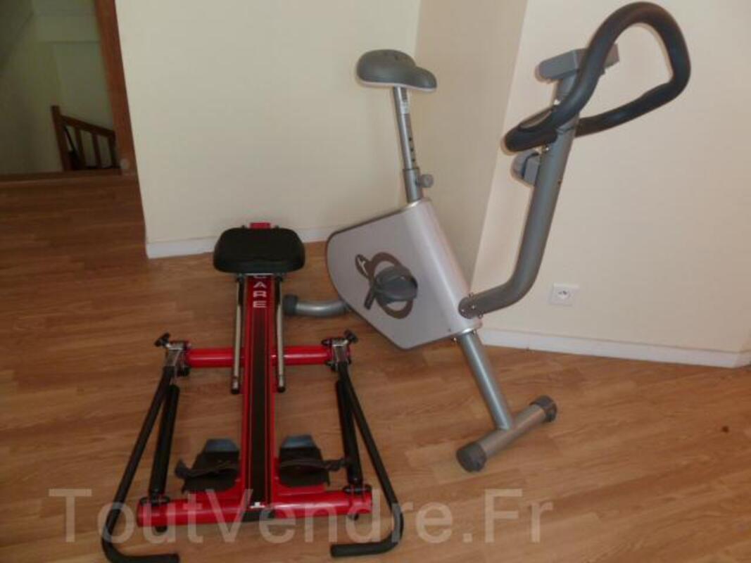 Lot sport : rameur et Vélo d'appartement + 2 altères 60440246