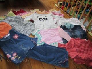 Lot vêtements fille 2 ans