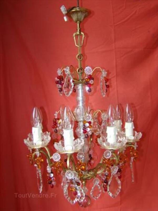 Lustre à pampilles decristal type à enfilage à 8 lampes 87346877