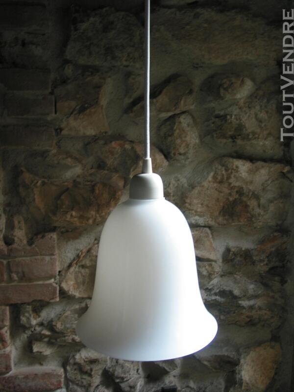 Lustre suspension art déco vintage 1950 tulipe cloche avec c 566895449