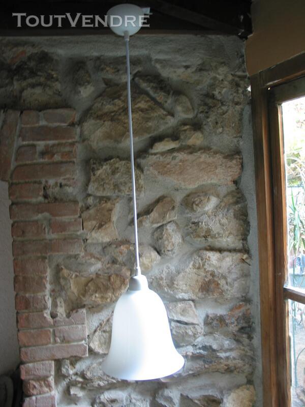 Lustre suspension art déco vintage 1950 tulipe cloche avec c 566895581
