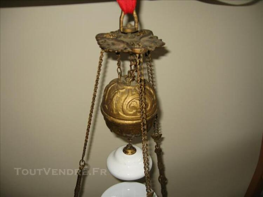 Lustre / suspension lampe à pétrole 77520718