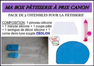 MA BOX PÂTISSERIE À PRIX CANON – PACK 5 USTENSILES – NEUF