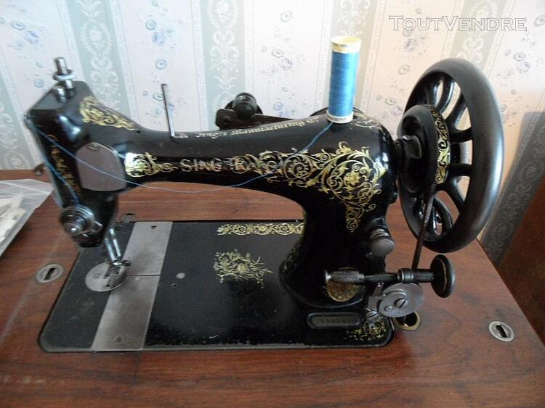 MACHINE A COUDRE ANCIENNE SINGER 1907 MODEL 27/28k +MEUBLE 141830714