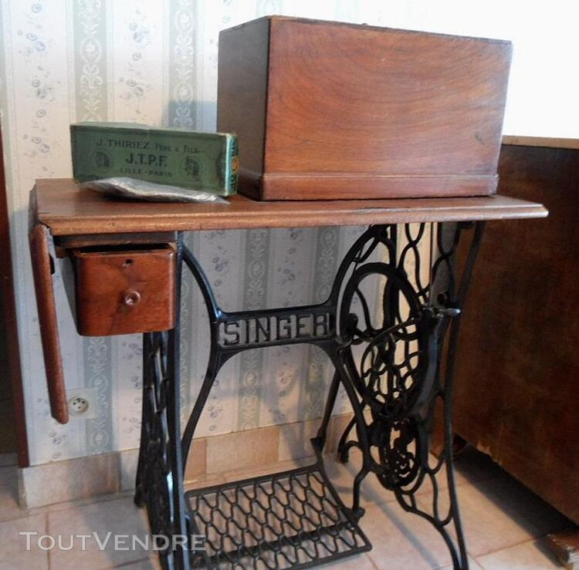 MACHINE A COUDRE ANCIENNE SINGER 1907 MODEL 27/28k +MEUBLE 141830757