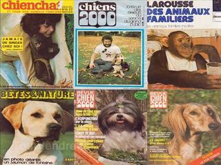 MAGAZINES ANCIENS SUR LES ANIMAUX 1971-1982
