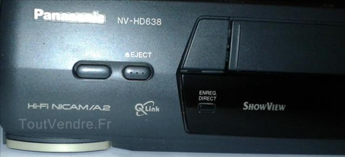 Magnétoscope PANASONIC NV-HD638 avec télécommande 89176448