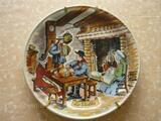 Magnifique assiette en Porcelaine de Castelroux