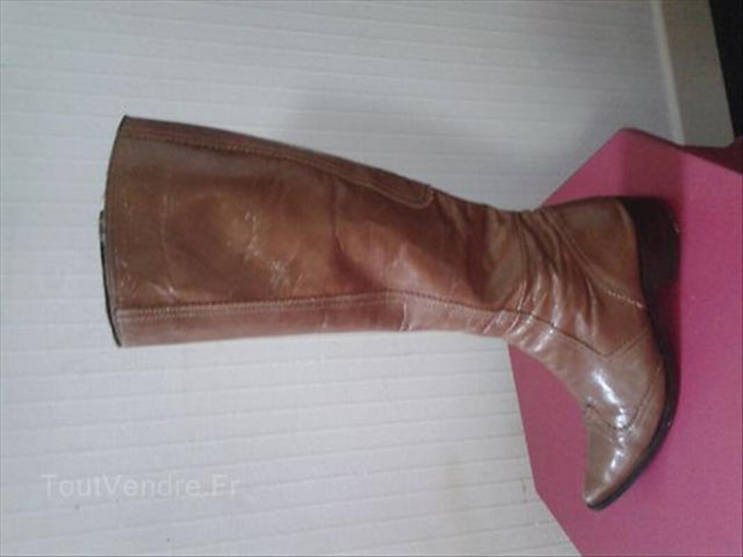 Magnifique bottes en cuir vernis 37/38 55867557