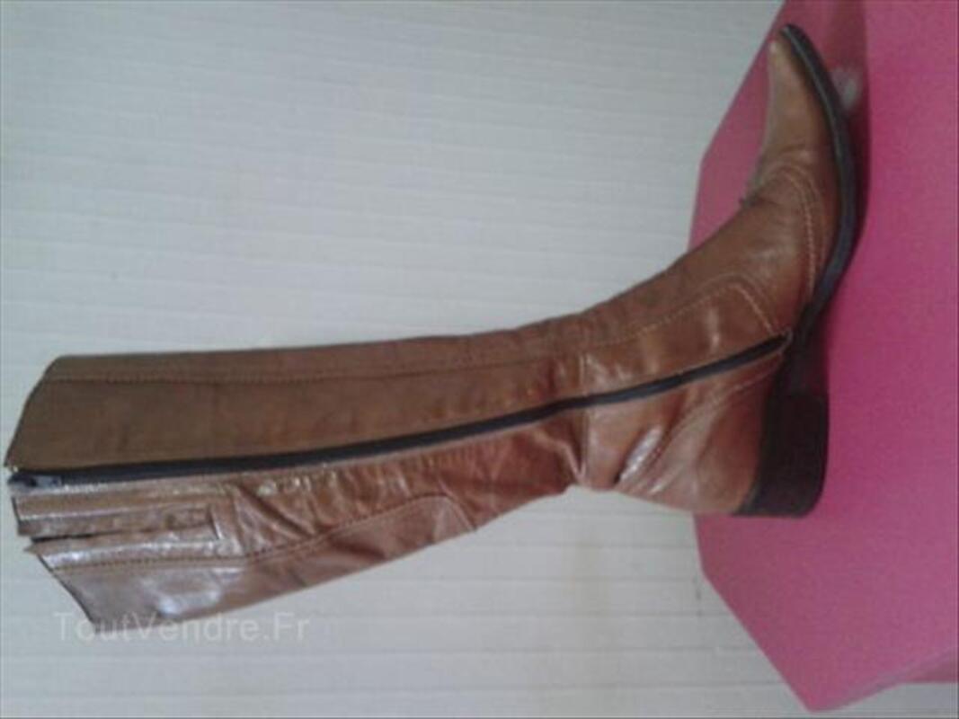 Magnifique bottes en cuir vernis 37/38 55867559