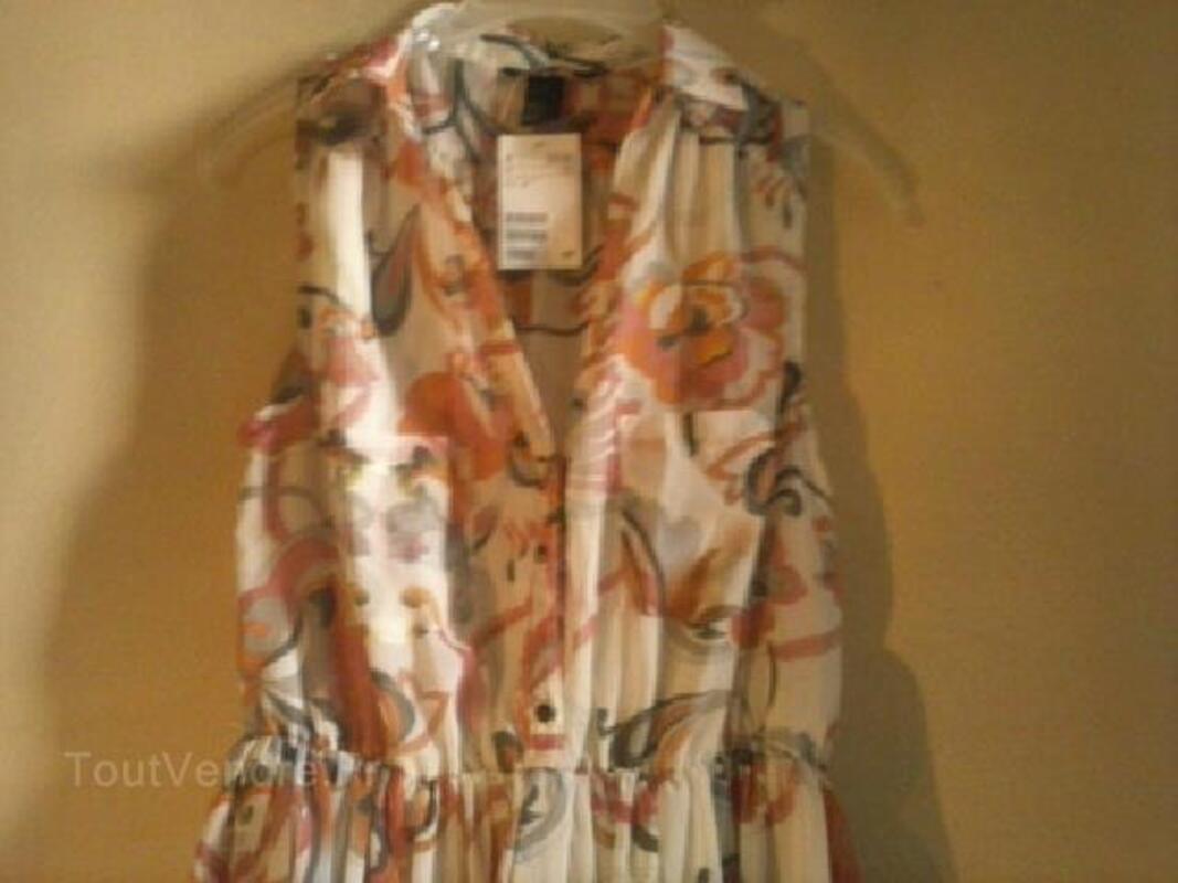 Magnifique robe chemise légère neuve t40-42 h&m 91909342