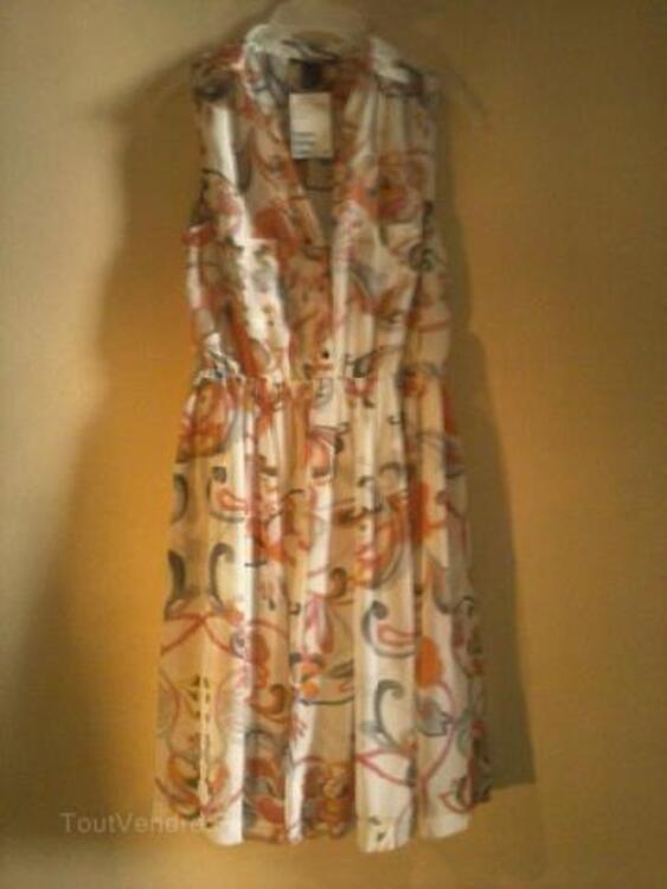Magnifique robe chemise légère neuve t40-42 h&m 91909344