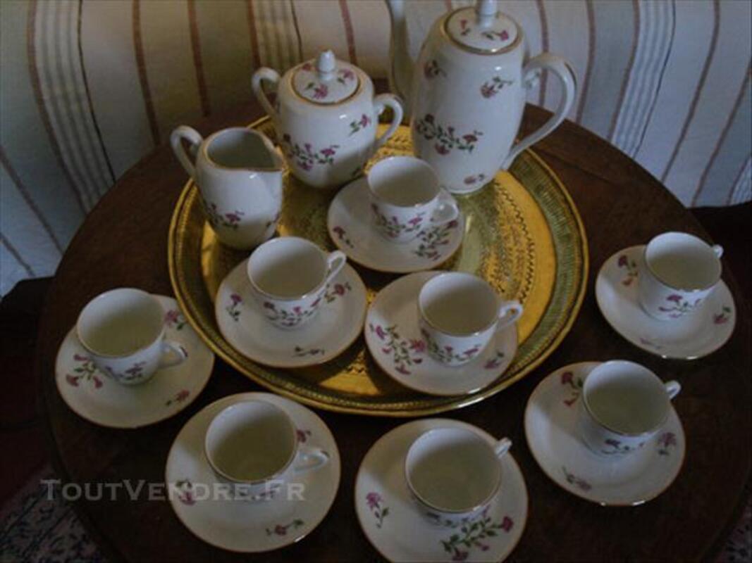 Magnifique service à café Années 20 Porcelaine Limoge 74016907