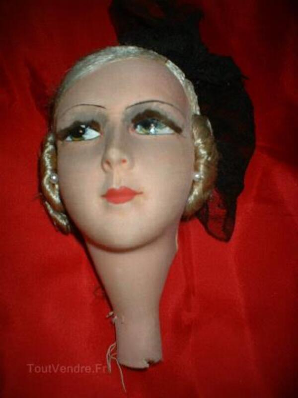 Magnifique tete de poupee de salon boudoir 104933011