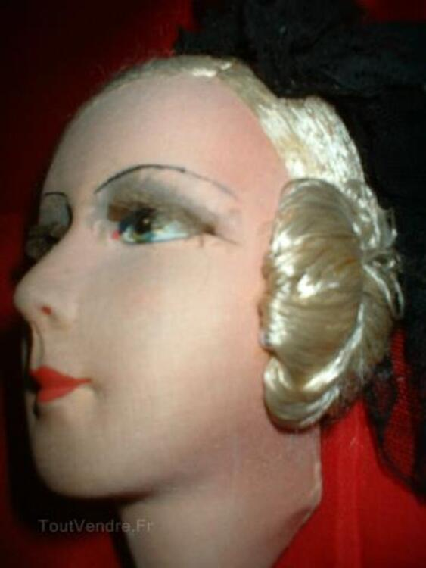 Magnifique tete de poupee de salon boudoir 104933012