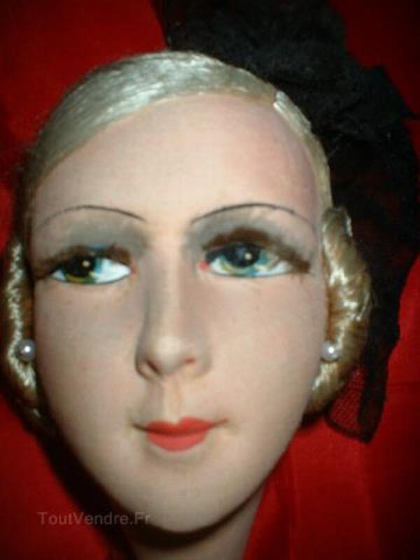 Magnifique tete de poupee de salon boudoir 104933013