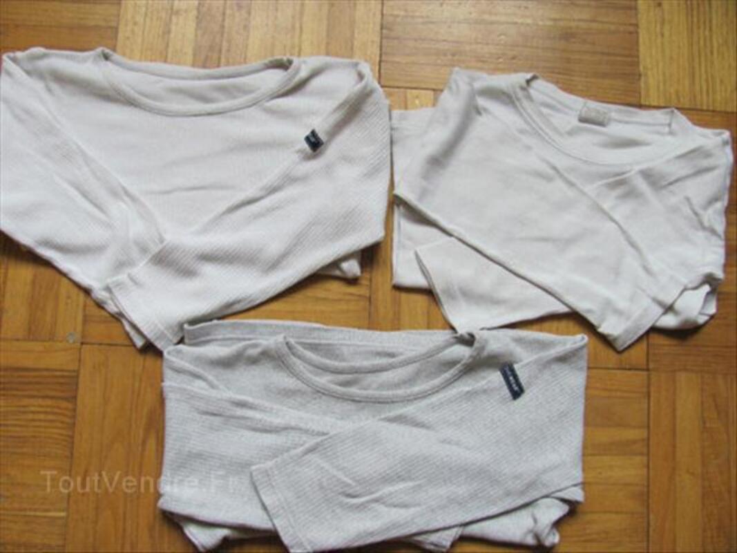 Maillot de corps 4 ans /t shirts manche longue lot de 3 64498205