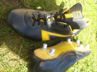 Maillot vintage,ancien,rare,porté,foot,chaussures Noel