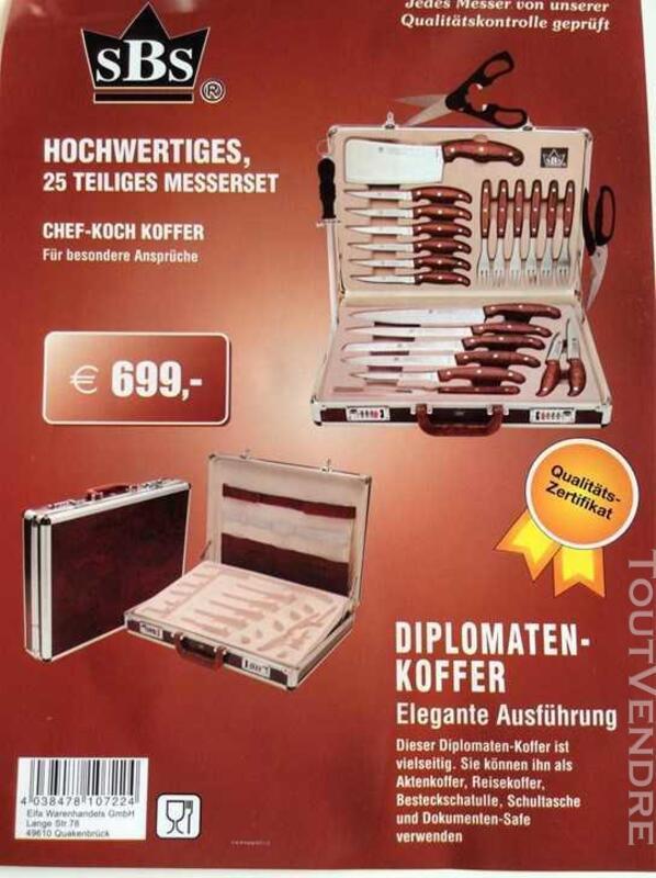 Malette de couteaux de cuisine professionnelle neuve 174629909