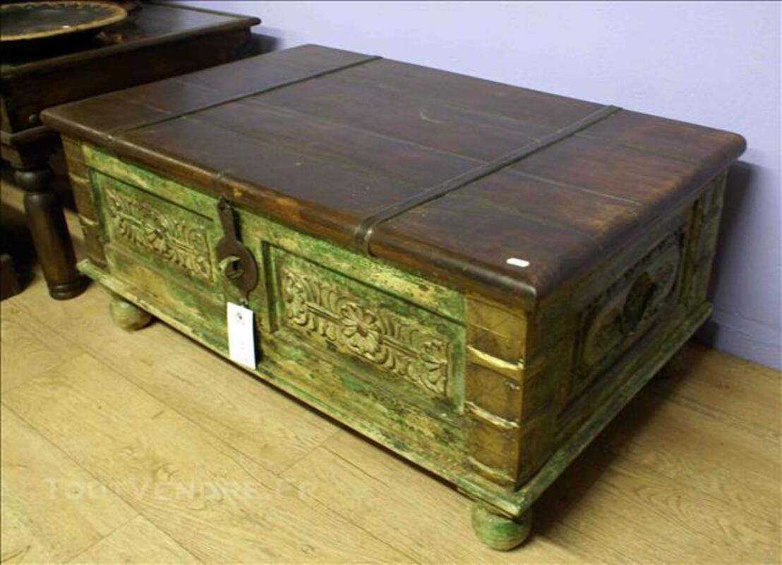 Malle ou coffre de rangement en bois - H: 41 cm 78895709