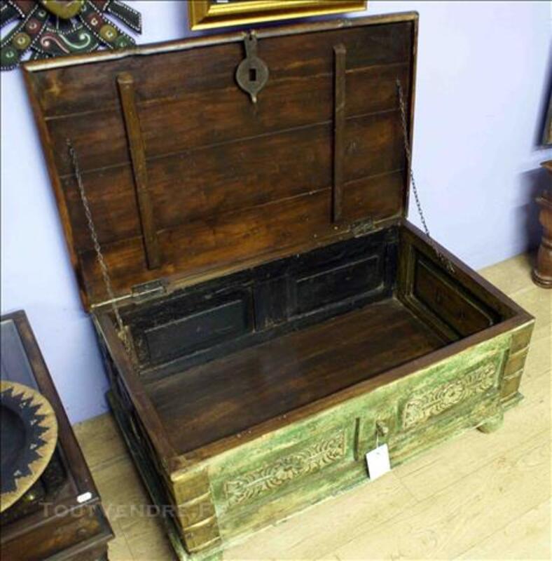 Malle ou coffre de rangement en bois - H: 41 cm 78895710