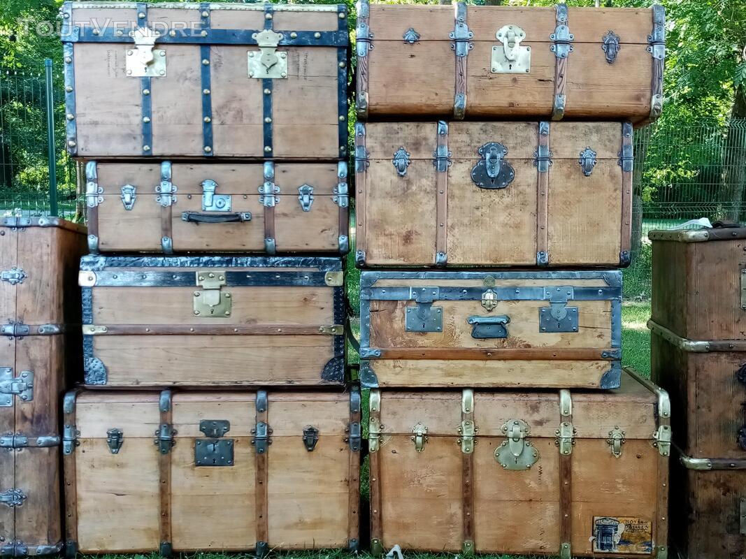 Malles coffres valises anciennes 702240199