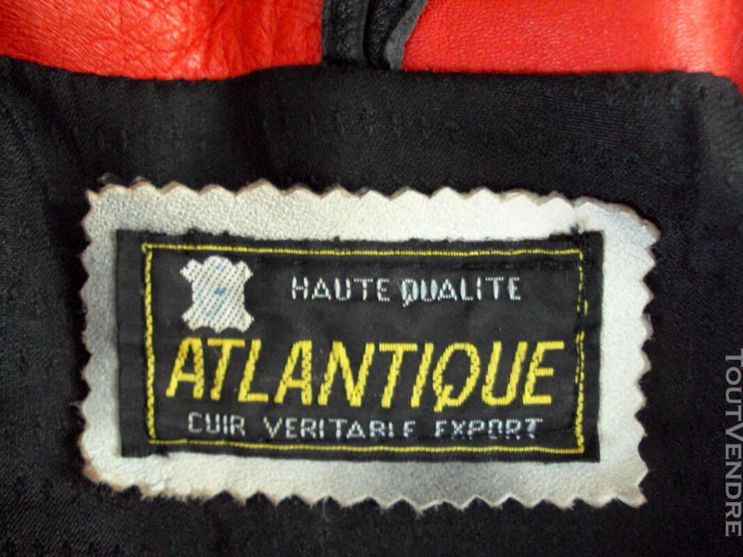 Manteau chic cuir rouge noir blanc rose 44 359501060