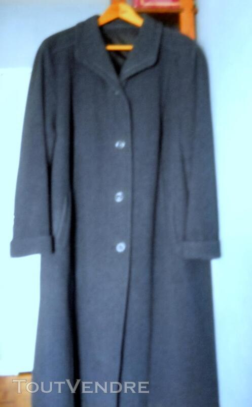 Manteau droit pour femme bleu chiné gris 354339406
