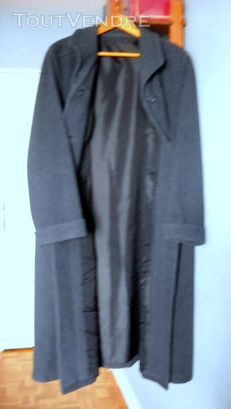 Manteau droit pour femme bleu chiné gris 354339505
